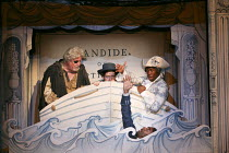 CANDIDE   a new play by Mark Ravenhill inspired by Voltaire   design: Soutra Gilmour   lighting: Tim Lutkin   director: Lyndsey Turner   l-r: Ian Redford (Pangloss), Ciaran Owens (Sailor), Dwane Walc...