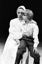 MACBETH   by Shakespeare    design: John Napier   lighting: Leo Leibovici   director: Trevor Nunn ~Susan Dury (Lady Macduff), Malcolm Milne (Young Macduff)~Royal Shakespeare Company (RSC) / The Other...
