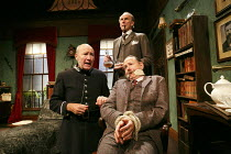 SHERLOCK'S LAST CASE   by Charles Marowitz  based on the characters created by Arthur Conan Doyle  design: Simon Kenny   lighting: Richard Howell   director: Maria Aitken   l-r: Alister Cameron (Lest...
