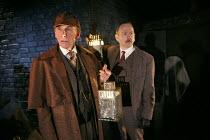 SHERLOCK'S LAST CASE   by Charles Marowitz  based on the characters created by Arthur Conan Doyle  design: Simon Kenny   lighting: Richard Howell   director: Maria Aitken   l-r: Christopher Godwin (S...