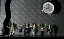 DIE FLEDERMAUS   by Johann Strauss II   conductor: Eun Sun Kim   set design: Allen Mpyer   costumes: Deirdre Clancy   lighting: Paul Palazzo   director:Christopher Alden   left: Edgaras Montividas (A...