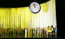 DIE FLEDERMAUS   by Johann Strauss II   conductor: Eun Sun Kim   set design: Allen Mpyer   costumes: Deirdre Clancy   lighting: Paul Palazzo   director:Christopher Alden   centre (in white) Julia Spo...