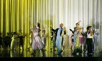 DIE FLEDERMAUS   by Johann Strauss II   conductor: Eun Sun Kim   set design: Allen Mpyer   costumes: Deirdre Clancy   lighting: Paul Palazzo   director:Christopher Alden   chorus partygoers English...