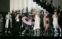 DIE FLEDERMAUS   by Johann Strauss II   conductor: Eun Sun Kim   set design: Allen Mpyer   costumes: Deirdre Clancy   lighting: Paul Palazzo   director:Christopher Alden   bottom front left: Tom Rand...