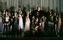 DIE FLEDERMAUS   by Johann Strauss II   conductor: Eun Sun Kim   set design: Allen Mpyer   costumes: Deirdre Clancy   lighting: Paul Palazzo   director:Christopher Alden   front: Jennifer Holloway (P...