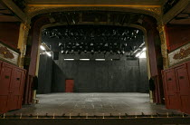 GREAT EXPECTATIONS   by Dickens   adapted & directed by Neil Bartlett   design: Michael Vale   lighting: Rick Fisher ~stage,set,empty,proscenium,lights,boxes~Bristol Old Vic (BOV) / Bristol, England...