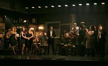 THE COMMITMENTS   by Roddy Doyle   design: Soutra Gilmour   lighting: Jon Clark   choreography: Ann Yeedirector: Jamie Lloyd ~standing left, l-r: Stephanie McKeon (Natalie), Sarah O'Connor (Imelda), J...