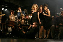 THE COMMITMENTS   by Roddy Doyle   design: Soutra Gilmour   lighting: Jon Clark   choreography: Ann Yeedirector: Jamie Lloyd ~foreground, on floor: Killian Donnelly (Deco)   standing, l-r: Stephanie M...
