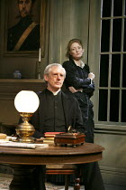 GHOSTS   by Ibsen   translated & directed by Stephen Unwin   design: Simon Higlett   lighting: Paul Pyant   Patrick Drury (Pastor Manders), Kelly Hunter (Mrs Alving) English Touring Theatre (ETT) /...