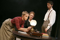 GHOSTS   by Ibsen   translated & directed by Stephen Unwin   design: Simon Higlett   lighting: Paul Pyant   l-r: Florence Hall (Regina), Kelly Hunter (Mrs Alving), Mark Quartley (Osvald Alving)  Eng...