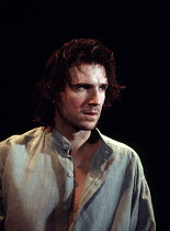 HAMLET   by Shakespeare   set design: Peter J Davidson   costumes: James Acheson   lighting: Mark Henderson   director: Jonathan Kent ~Ralph Fiennes (Hamlet)~Hackney Empire, London E8 / Almeida Theatr...