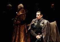 MACBETH   by Shakespeare   design: John Napier   lighting: Leo Leibovici   director: Trevor Nunn ~Ian McKellen (Macbeth) ~Royal Shakespeare Company (RSC) / The Young Vic, London SE1, England   1978