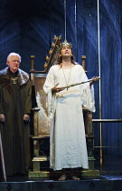 RICHARD II   by Shakespeare   design: Stephen Brimson Lewis   lighting: Tim Mitchell   director: Gregory Doran ~IV/i - l-r: Oliver Ford Davies (Duke of York), David Tennant (King Richard II)~Royal Sha...