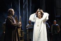 RICHARD II   by Shakespeare   design: Stephen Brimson Lewis   lighting: Tim Mitchell   director: Gregory Doran ~IV/i - l-r: Nigel Lindsay (Henry Bolingbroke), David Tennant (King Richard II) ~Royal Sh...