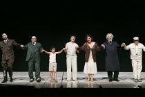 WOZZECK   by Alban Berg   conductor: Mark Elder   set design: Stefanos Lazaridis   costumes: Marie-Jeanne Lecca   lighting: Rick Fisher   director: Keith Warner   curtain call, from left: Endrik Wott...