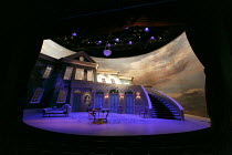 TARTUFFE   by Moliere   translated by Chris Campbell   design: Liz Ascroft   lighting: Chahine Yavroyan   director: Roxana Silbert ~stage,full,set,empty,cyclorama.French,period~Birmingham Repertory Th...
