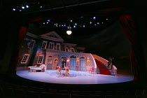 TARTUFFE   by Moliere   translated by Chris Campbell   design: Liz Ascroft   lighting: Chahine Yavroyan   director: Roxana Silbert ~stage,full,set,empty,lights,cyclorama,French,period~Birmingham Reper...
