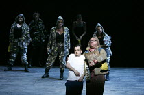 THE MAGIC FLUTE (Die Zauberflote)   by Mozart   conductor: Gergely Madaras   set design: Michael Levine   costumes: Nicky Gillibrand   lighting: Jean Kalman   director: Simon McBurney   front, l-r: B...