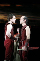 JULIUS CAESAR   by Shakespeare   director: Sean Holmes   l-r: John Light (Brutus), Finbar Lynch (Cassius)    part of 'The Complete Works' Festival - April 2006-March 2007                           1...