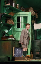 EMIL AND THE DETECTIVES   by Erich Kastner   adapted by Carl Miller   design: Bunny Christie   lighting: Lucy Carter   director: Bijan Sheibani ~Ethan Hammer (Emil)~Olivier Theatre / National Theatre...