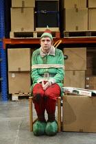 THE NIGHT BEFORE CHRISTMAS   by Antony Neilson   design: Michael Vale   lighting: Malcolm Rippeth   director: Steve Marmion   Craig Gazey (Elf) Soho Theatre, London W1   05/12/2012