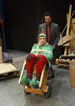 THE NIGHT BEFORE CHRISTMAS   by Antony Neilson   design: Michael Vale   lighting: Malcolm Rippeth   director: Steve Marmion   Craig Gazey (Elf), Navin Chowdhry (Gary)  Soho Theatre, London W1   05/1...