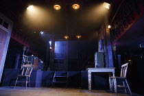 THE EL. TRAIN   by Eugene O'Neill ~stage,set,empty,Victorian,interior~Hoxton Hall, London N1   12/12/2013