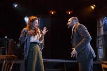 THE EL. TRAIN   by Eugene O'Neill ~'The Web' - directed by Sam Yates: Ruth Wilson (Rose Thomas), Zubin Varla (Steve)~Hoxton Hall, London N1   12/12/2013