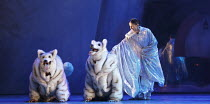 CINDERELLA   choreography & direction: David Nixon   set design: Duncan Hayler   costumes: David Nixon & Julie Anderson   lighting: Tim Mitchell ~Martha Leebolt (Cinderella) with Huskies~Northern Ball...