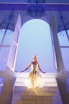 CINDERELLA   choreography & direction: David Nixon   set design: Duncan Hayler   costumes: David Nixon & Julie Anderson   lighting: Tim Mitchell ~the Ball -Cinderella's entrance: Martha Leebolt (Cinde...
