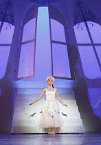 CINDERELLA   choreography & direction: David Nixon   set design: Duncan Hayler   costumes: David Nixon & Julie Anderson   lighting: Tim Mitchell ~the Ball -Cinderella's entrance: Martha Leebolt (Cinde...
