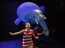THE ELEPHANTOM   by Ross Collins   adapted by Ben Power   music: Adam Pleeth   design: Samuel Wyer   lighting: Matt Daw   consultant director: Marianne Elliott   directors: Finn Caldwell and Toby Olie...