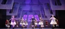 CINDERELLA   choreography & direction: David Nixon   set design: Duncan Hayler   costumes: David Nixon & Julie Anderson   lighting: Tim Mitchell ~the Ball - centre: Pippa Moore (Countess Serebrenishka...