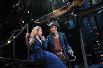 WENDY AND PETER PAN   by Ella Hickson   adapted from the novel by J M Barrie   design: Colin Richmond   lighting: Oliver Fenwick   director: Jonathan Munby ~on the pirate ship: Fiona Button (Wendy), G...