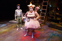 WENDY AND PETER PAN   by Ella Hickson   adapted from the novel by J M Barrie   design: Colin Richmond   lighting: Oliver Fenwick   director: Jonathan Munby ~Sam Swann (Peter Pan), Charlotte Mills (Tin...