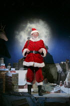 FATHER CHRISTMAS   by Raymond Briggs   adapted by Pins & Needles   design: Zoe Squire   lighting: George Ogilvie   director: Emma Earle   Barry McCarthy (Father Christmas)  Lyric Hammersmith (LTH),...