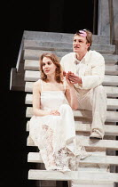 ROMEO AND JULIET   by Shakespeare   design: Chris Dyer   lighting: Chris Ellis   director: Michael Bogdanov ~Niamh Cusack (Juliet), Sean Bean (Romeo)~Royal Shakespeare Company (RSC) / Royal Shakespear...