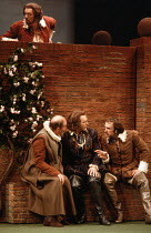 MUCH ADO ABOUT NOTHING   by Shakespeare   design: Alison Chitty   lighting: Stephen Wentworth   director: Peter Gill    above: Michael Gambon (Benedick)   below, l-r: Frederick Treves (Leonato), Rob...