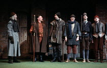 MUCH ADO ABOUT NOTHING   by Shakespeare   design: Alison Chitty   lighting: Stephen Wentworth   director: Peter Gill    the Watch - left: Leonard Fenton (Verges), 2nd left: Brian Glover (Dogberry)...