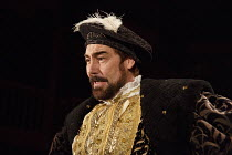 BRING UP THE BODIES   by Hilary Mantel   adapted by Mike Poulton   design: Christopher Oram   lighting: Paule David Plater   director: Jeremy Herrin   Nathaniel Parker (Henry VIII)  Royal Shakespear...