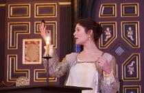 THE DUCHESS OF MALFI  by John Webster  design: Jonathan Fensom  director: Dominic Dromgoole ~Gemma Arterton (The Duchess of Malfi) ~Sam Wanamaker Playhouse, Shakespeare's Globe (SG), London SE1  15/01...