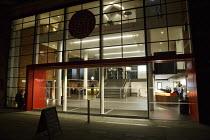 redesigned foyer & box office after dark Shakespeare's Globe (SG), London SE1   20/01/2014