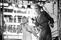 THE ROCKY HORROR SHOW   book, music & lyrics by Richard O'Brien   set design: Brian Thomson   costumes: Sue Blane   lighting: Gerry Jenkinson   director: Jim Sharman ~~l-r: Rayner Bourton (Rocky Horro...