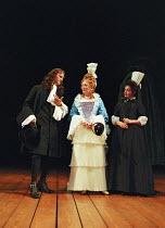 THE PROVOK'D WIFE   by Sir John Vanbrugh   set design: John Gunter   costumes: Laura Hopkins   lighting: Mark Henderson   director: Lindsay Posner   l-r: Tim McInnerny (Heartfree), Alison Steadman (L...