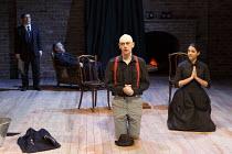 TWELFTH NIGHT   by Shakespeare   design: Laura Hopkins   lighting: Paul Keogan   director: Gemma Bodinetz   l-r: Nicholas Woodeson (Malvolio), Alan Stocks (Fabian), Paul Duckworth (Feste), Natalie De...