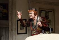 BLITHE SPIRIT   by Noel Coward   design: Simon Higlett   lighting: Mark Jonathan   director: Michael Blakemore ~Angela Lansbury (Madame Arcati)~Gielgud Theatre, London W1   18/03/2014