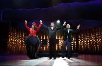 I CAN'T SING!   by Harry Hill & Steve Brown   set design: Es Devlin   costumes: Leah Archer   lighting: Jon Clark   choreography: Kate Prince   director: Sean Foley ~l-r: Victoria Elliott (Jordy), Nig...