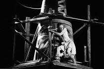 THE ROARING GIRL   by Thomas Middleton & Thomas Dekker   design: Chris Dyer   lighting: Leo Leibovici   director: Barry Kyle   Mark Rylance (Jack Dapper) Royal Shakespeare Company / Royal Shakespea...