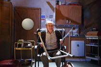 James Bolam (Jimmy) in BOMBER'S MOON by William Ivory at the Park Theatre, Finsbury Park, London N4  04/04/2014  design: Laura McEwan  lighting: James Farncombe  director: Matt Aston