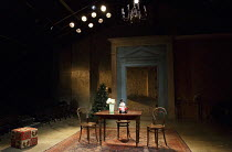 THREE SISTERS   by Chekhov   in a new version by Anya Reiss   design: Anthony Lamble   lighting: Howard Hudson   director: Russell Bolam ~stage,set,empty~Southwark Playhouse, London SE1   08/04/2014